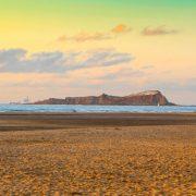 Playa de laida atardecer