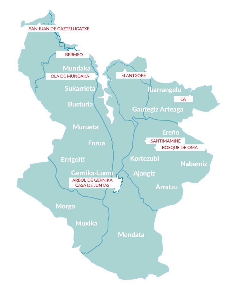 mapa urdaibai