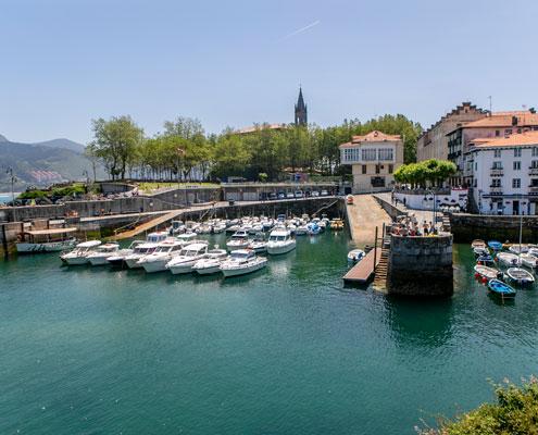 Vista puerto Mundaka